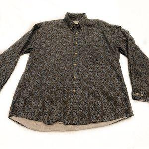 90s Vintage Paisley Men's Button Front Shirt